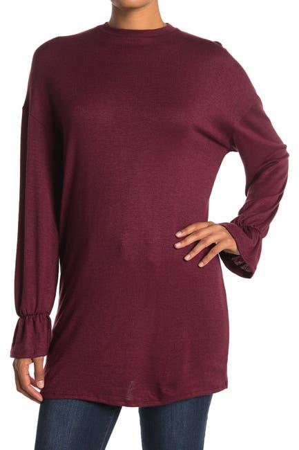 Image of Velvet Torch Long Sleeve Ruffle Sweater