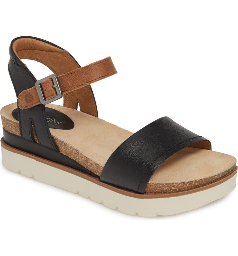 JOSEF SEIBEL Clea 01 Sandal, Main, color, BLACK LEATHER