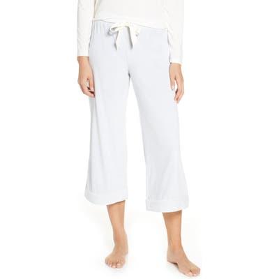Rachel Parcell Velour Crop Pajama Pants, Blue (Nordstrom Exclusive)