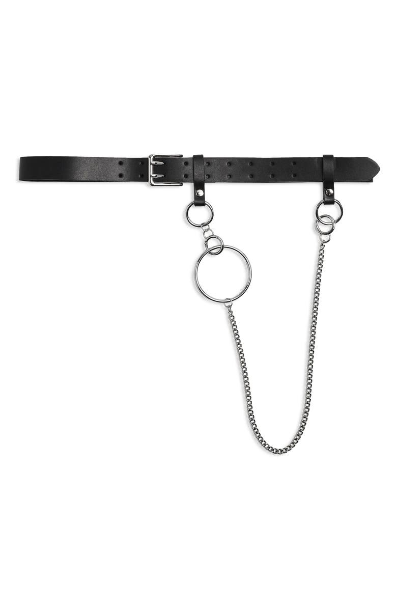 Double Prong Chain Belt by Topshop