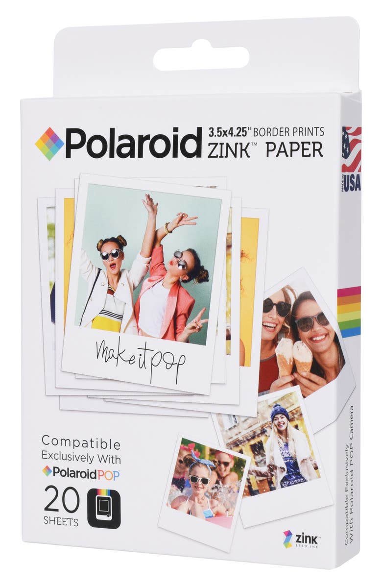 POLAROID ZINK<sup>®</sup> Zero Ink 20-Pack Instant Photo Paper, Main, color, NONE