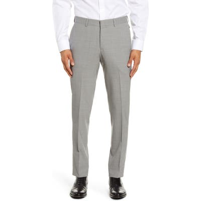 Nordstrom Shop Tech-Smart Slim Fit Stretch Wool Dress Pants, Grey