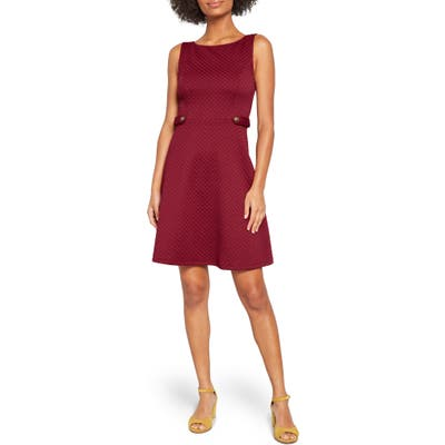 Plus Size Modcloth Sixties Signature Sleeveless A-Line Dress, Red