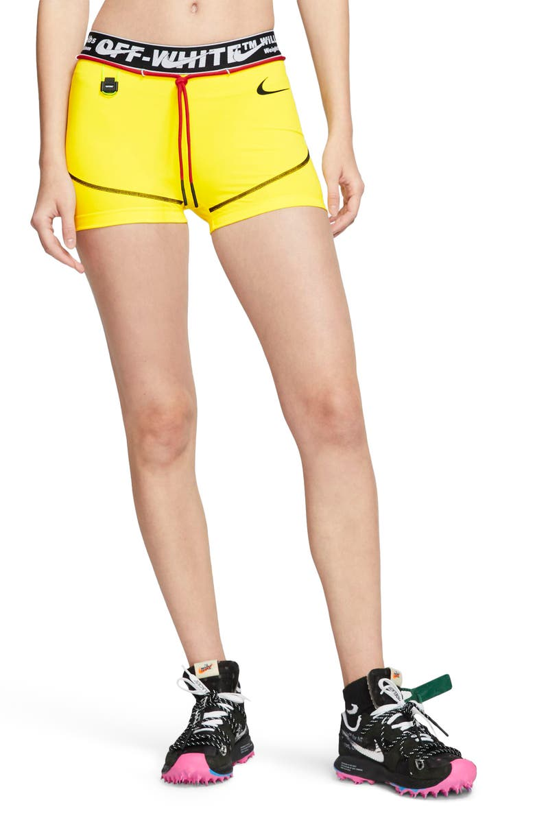 NIKE x Off-White Pro Training Shorts, Main, color, OPTI YELLOW