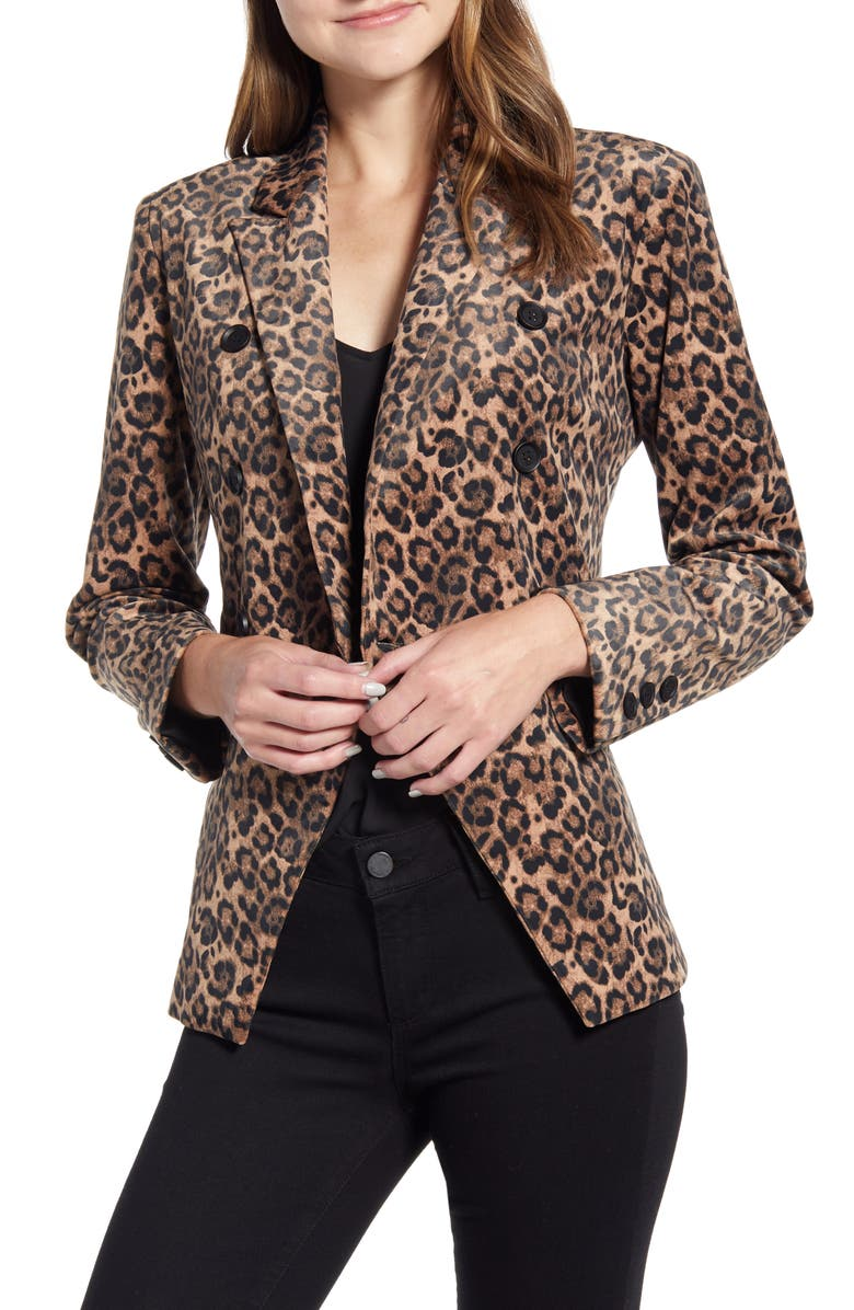 GIBSON x Fall Refresh Fancy Ashley Double Breasted Jacket, Main, color, BRUSHED JAGUAR
