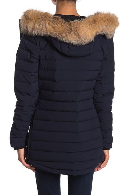 Image of Moose Knuckles Roselawn Genuine Fox Fur Trim Puffer Jacket