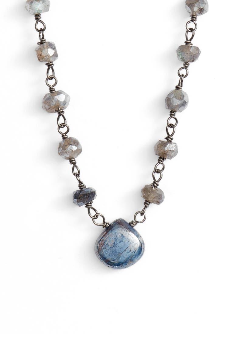 ELA RAE Beaded Collar Necklace, Main, color, MYSTIC LABRADORITE/ KYNITE