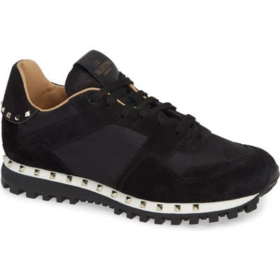 Valentino Garavani Rockstud Sneaker, Black