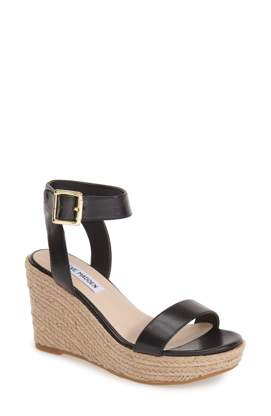 'Seaside' Wedge Sandal, Main, color, 002