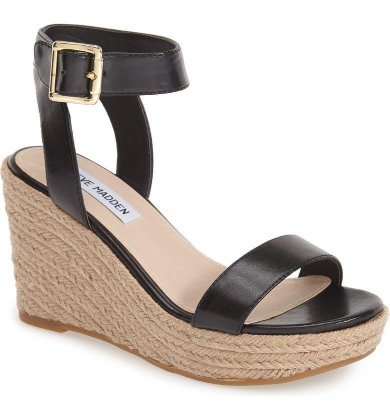STEVE MADDEN 'Seaside' Wedge Sandal, Main, color, 002