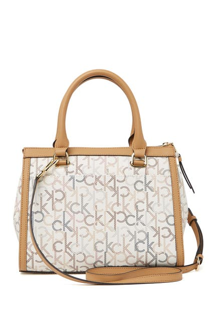 Image of Calvin Klein Mercy Signature Embroidered Satchel