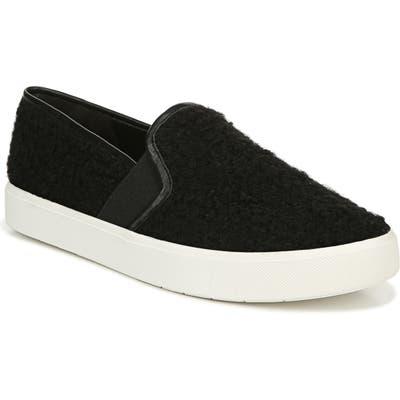Vince Blair 5 Faux Shearling Slip-On Sneaker, Black