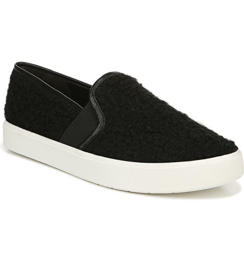 VINCE Blair 5 Faux Shearling Slip-On Sneaker, Main, color, 007