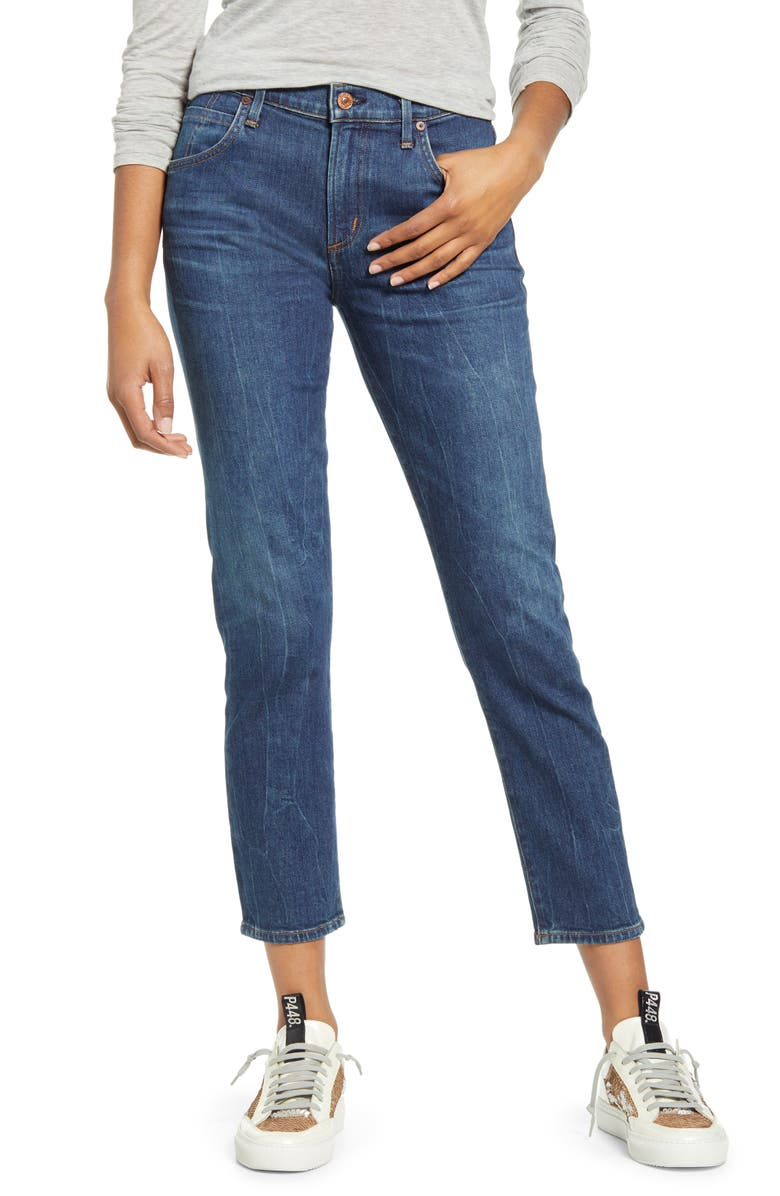 CITIZENS OF HUMANITY Elsa Crop Slim Jeans, Main, color, MERCY