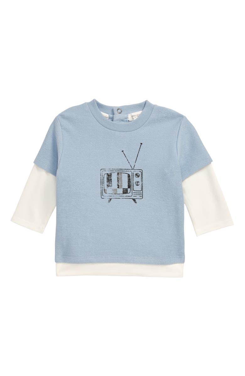 MILES BABY Graphic Sweatshirt, Main, color, LIGHT BLUE