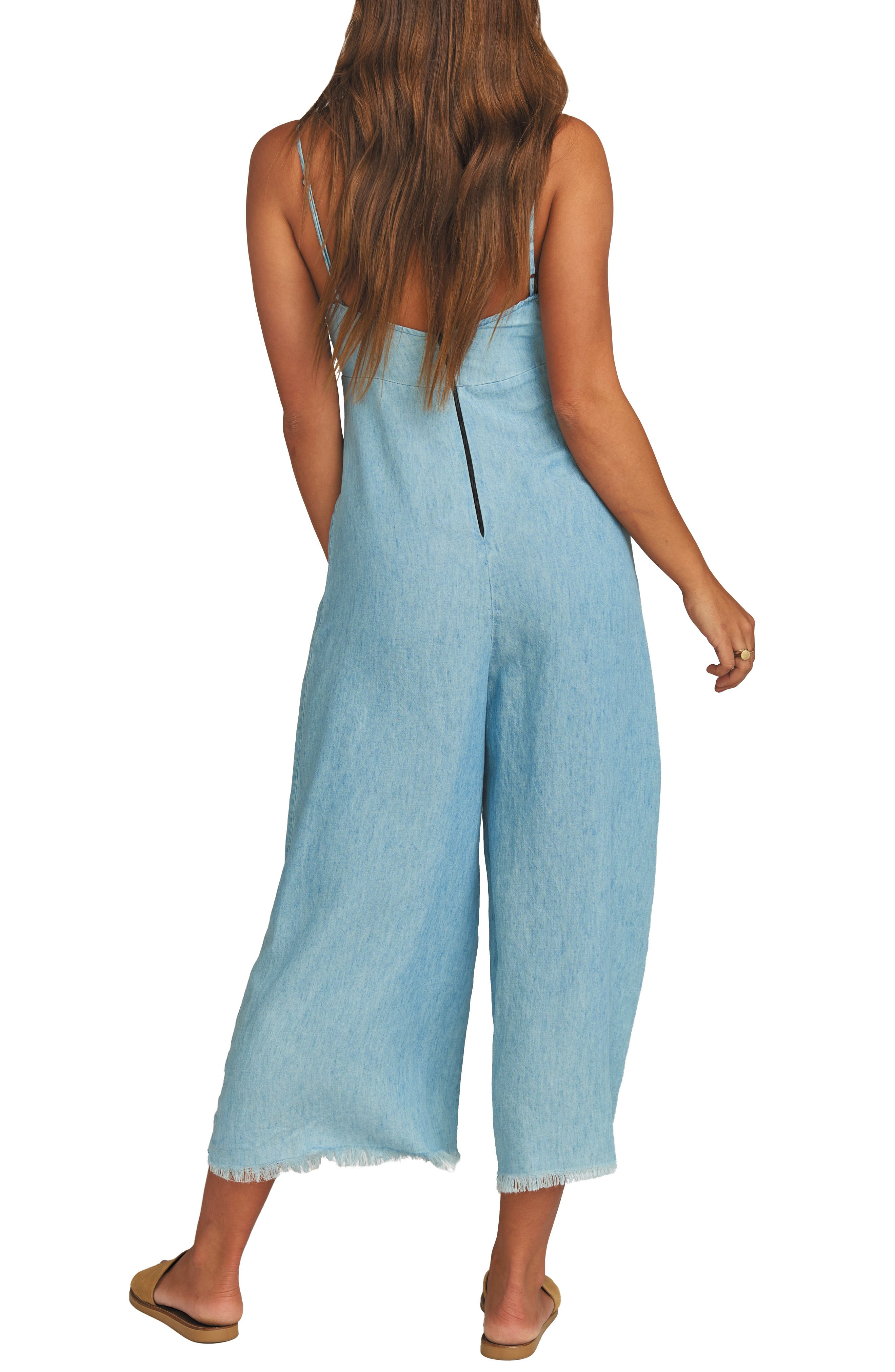 ,                             Paolo Chambray Wide Leg Jumpsuit,                             Alternate thumbnail 2, color,                             SHORE CHAMBRAY