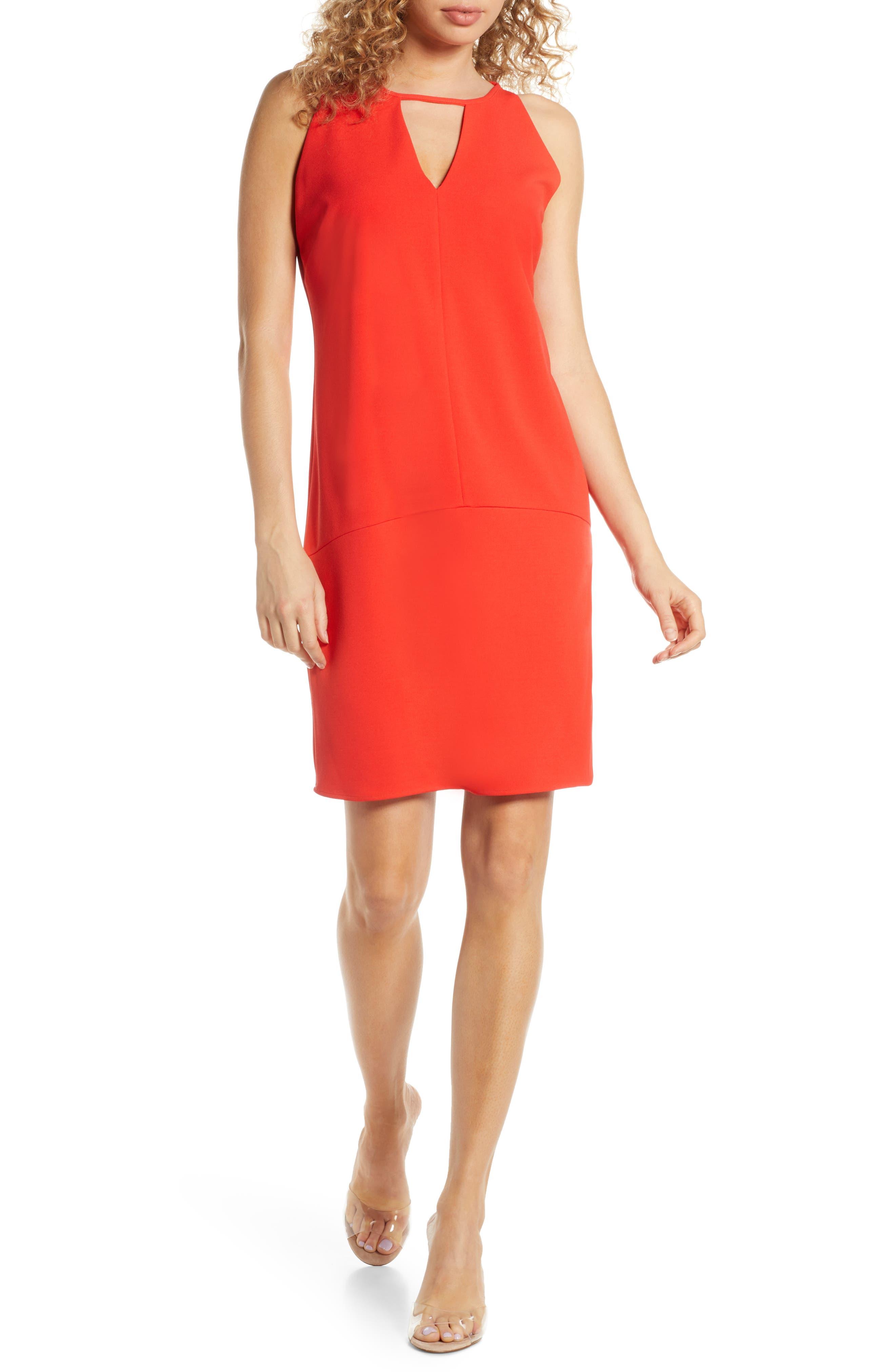 Sam Edelman Keyhole Shift Dress, Orange