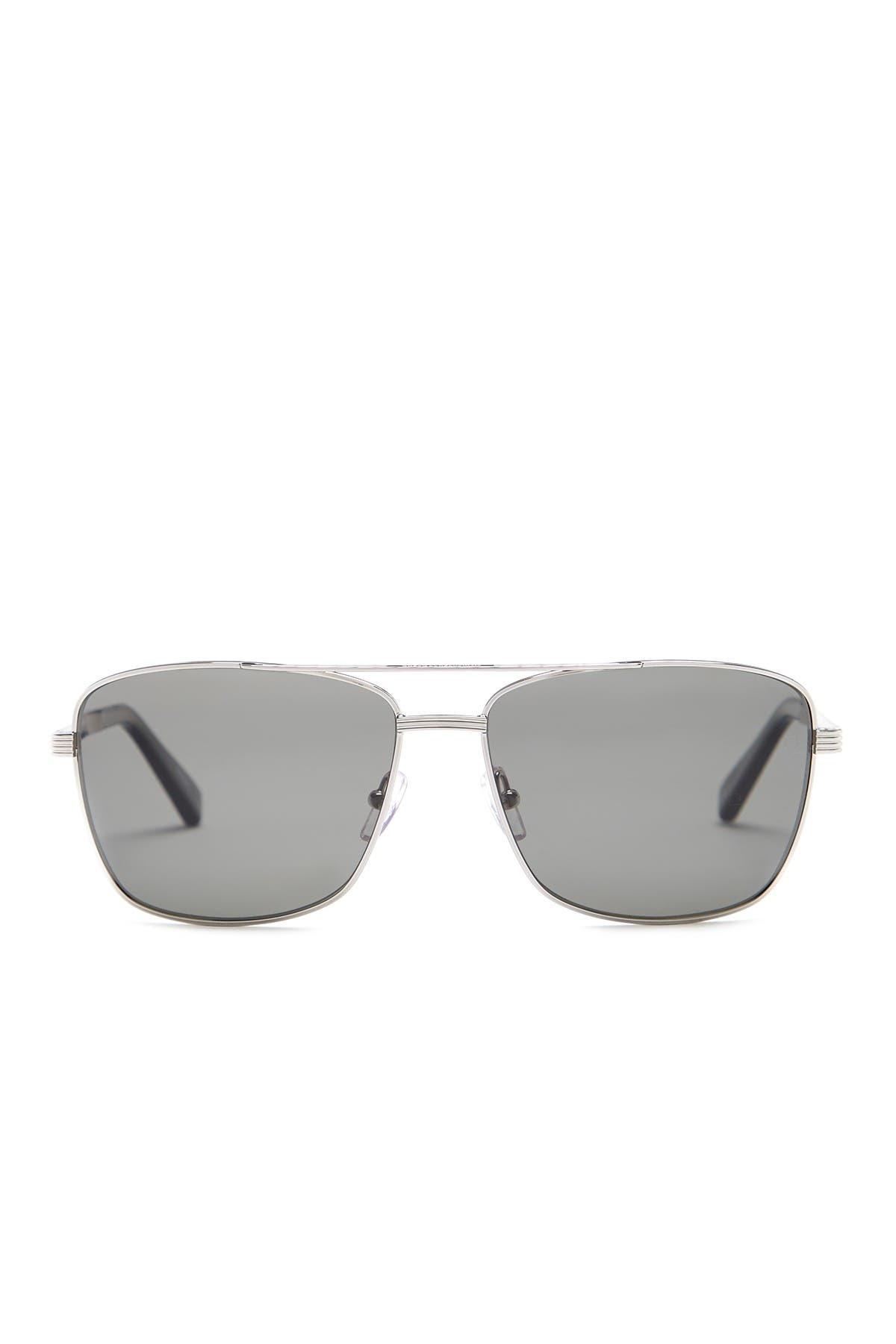 Image of Ermenegildo Zegna 61mm Navigator Sunglasses