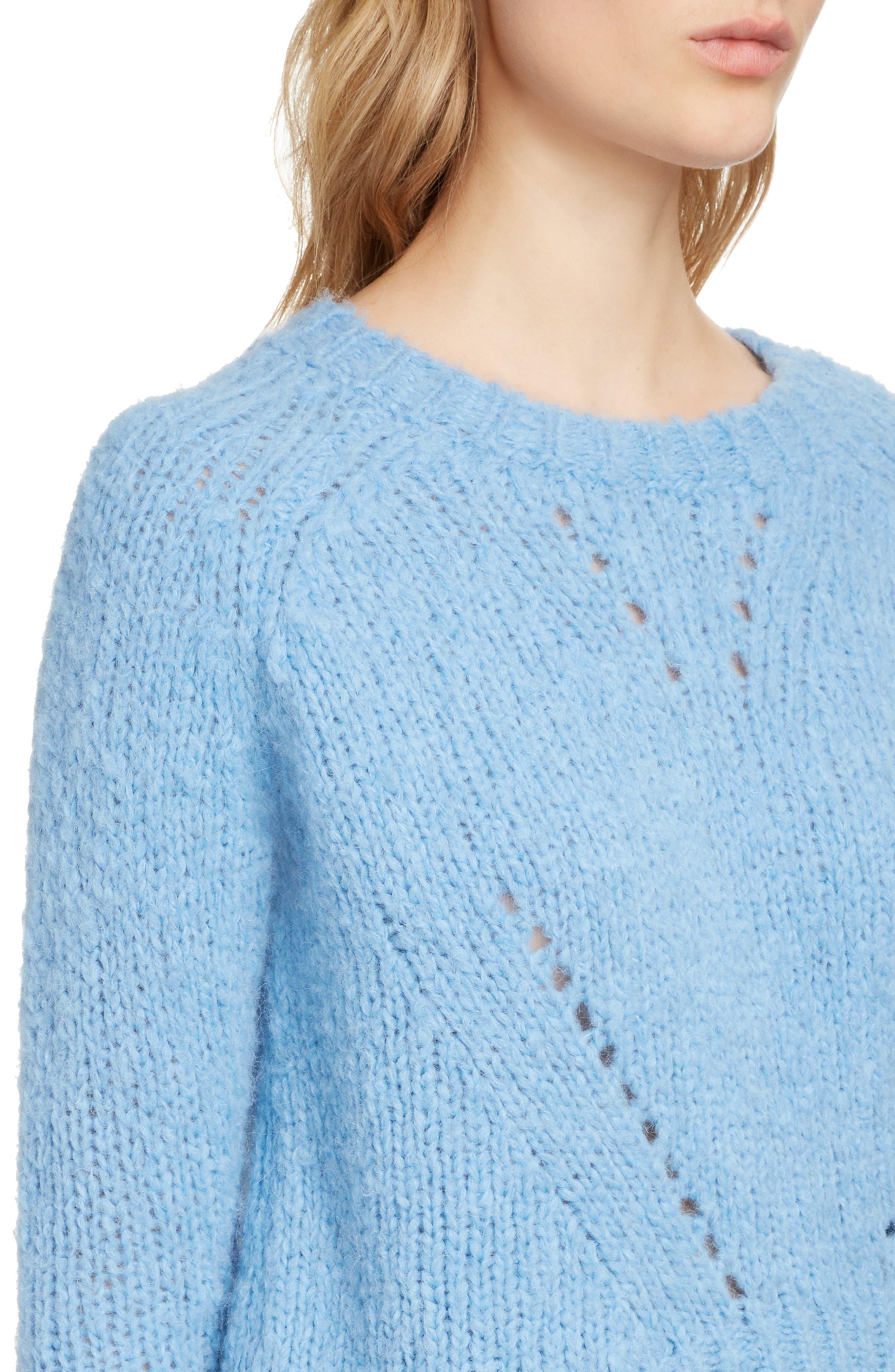 ,                             Shields Sweater,                             Alternate thumbnail 4, color,                             LIGHT BLUE