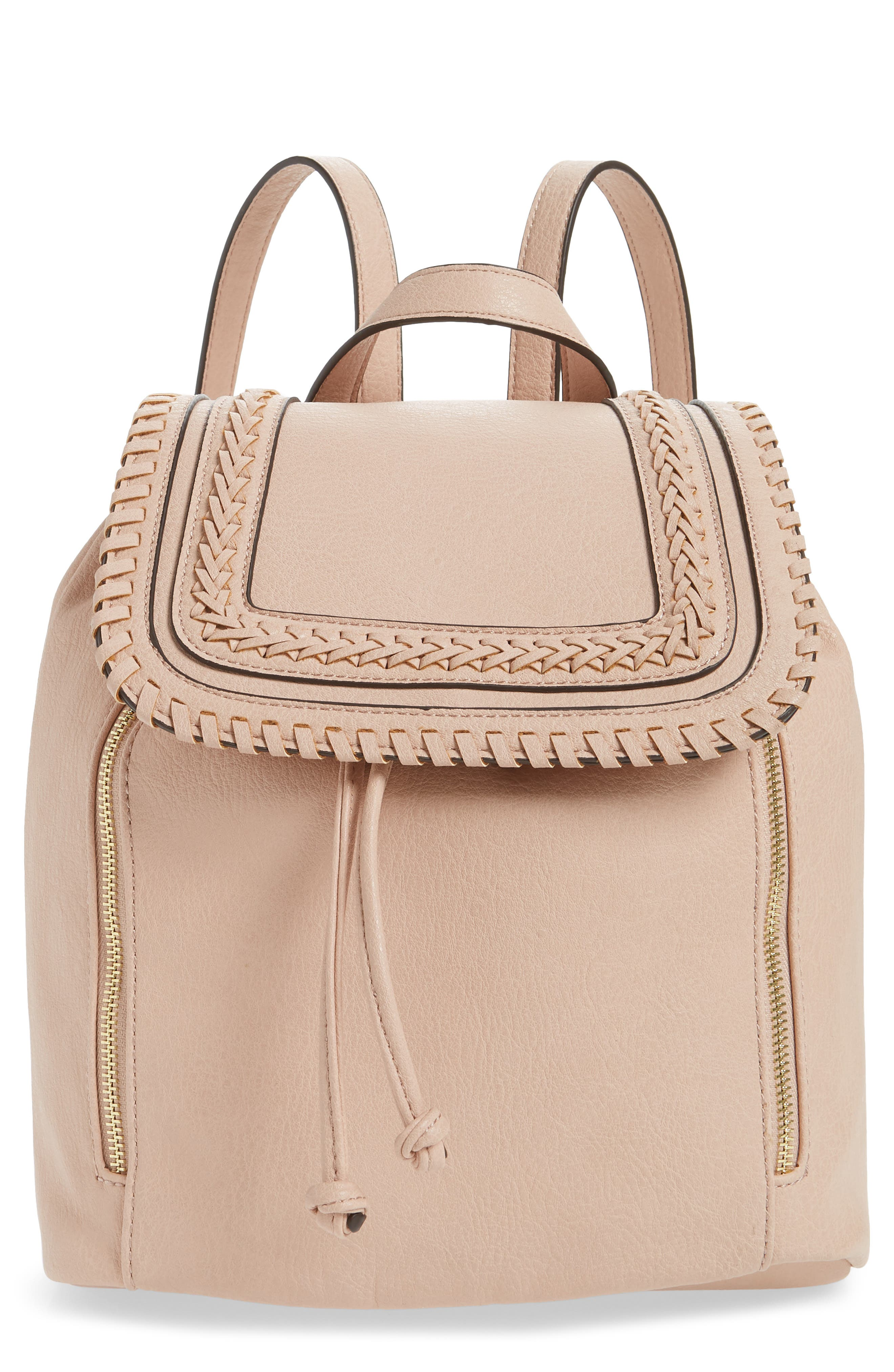 Sole Society Destin Faux Leather Backpack - Pink