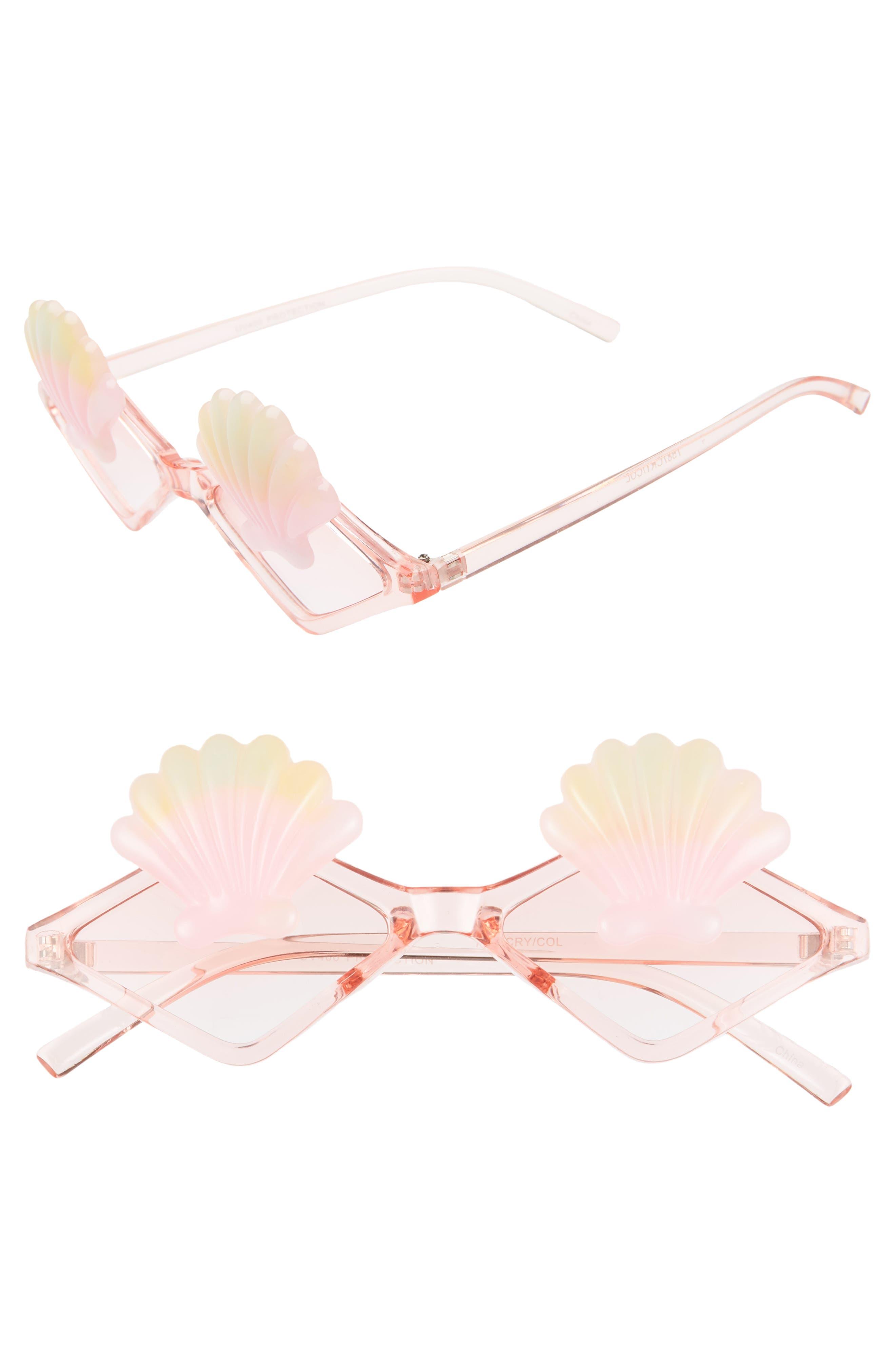 Rad + Refined Seashell Sunglasses - Pink/ Multi