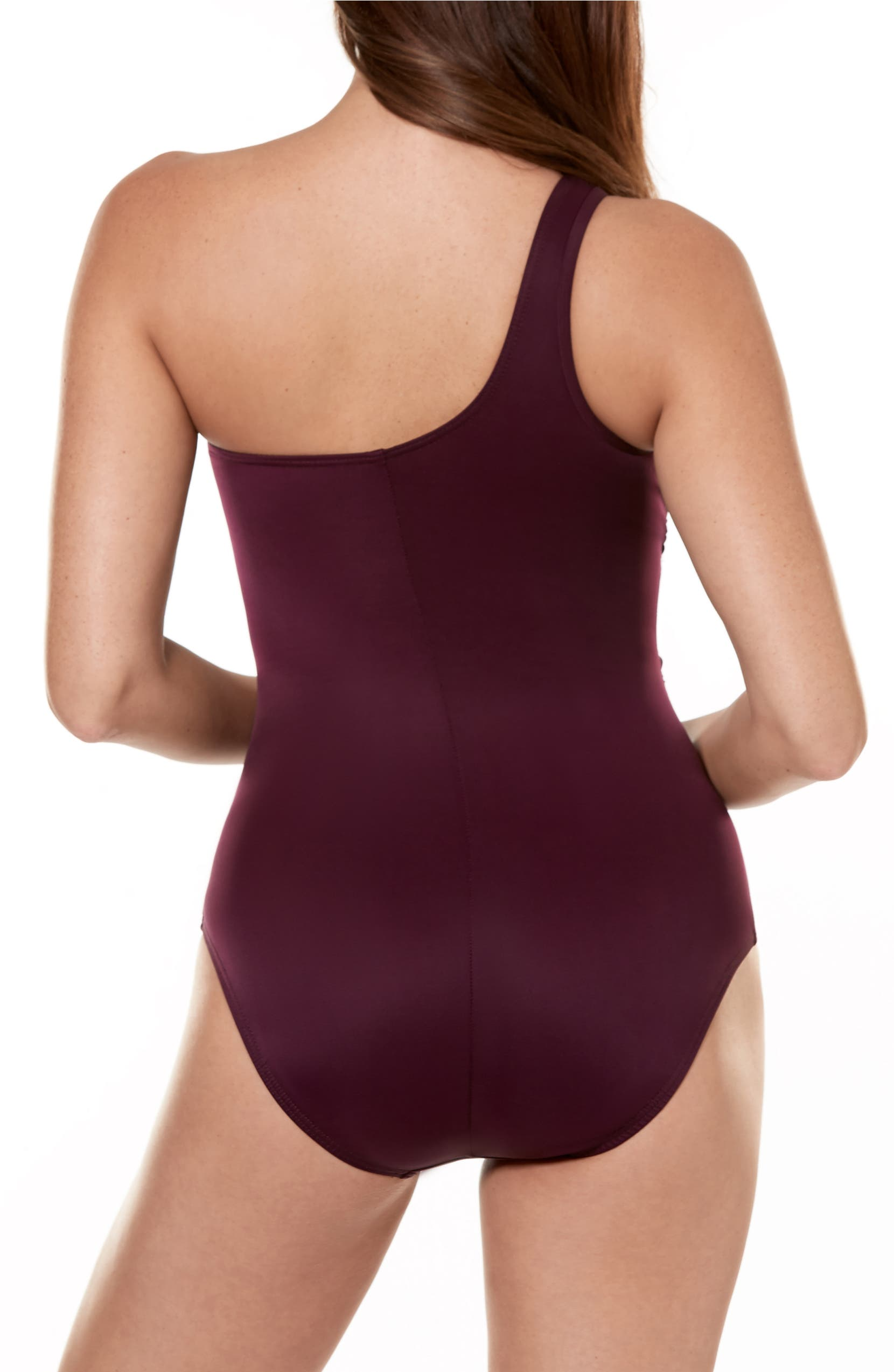64f6121a2125f Miraclesuit® Jena One-Shoulder One-Piece Swimsuit   Nordstrom