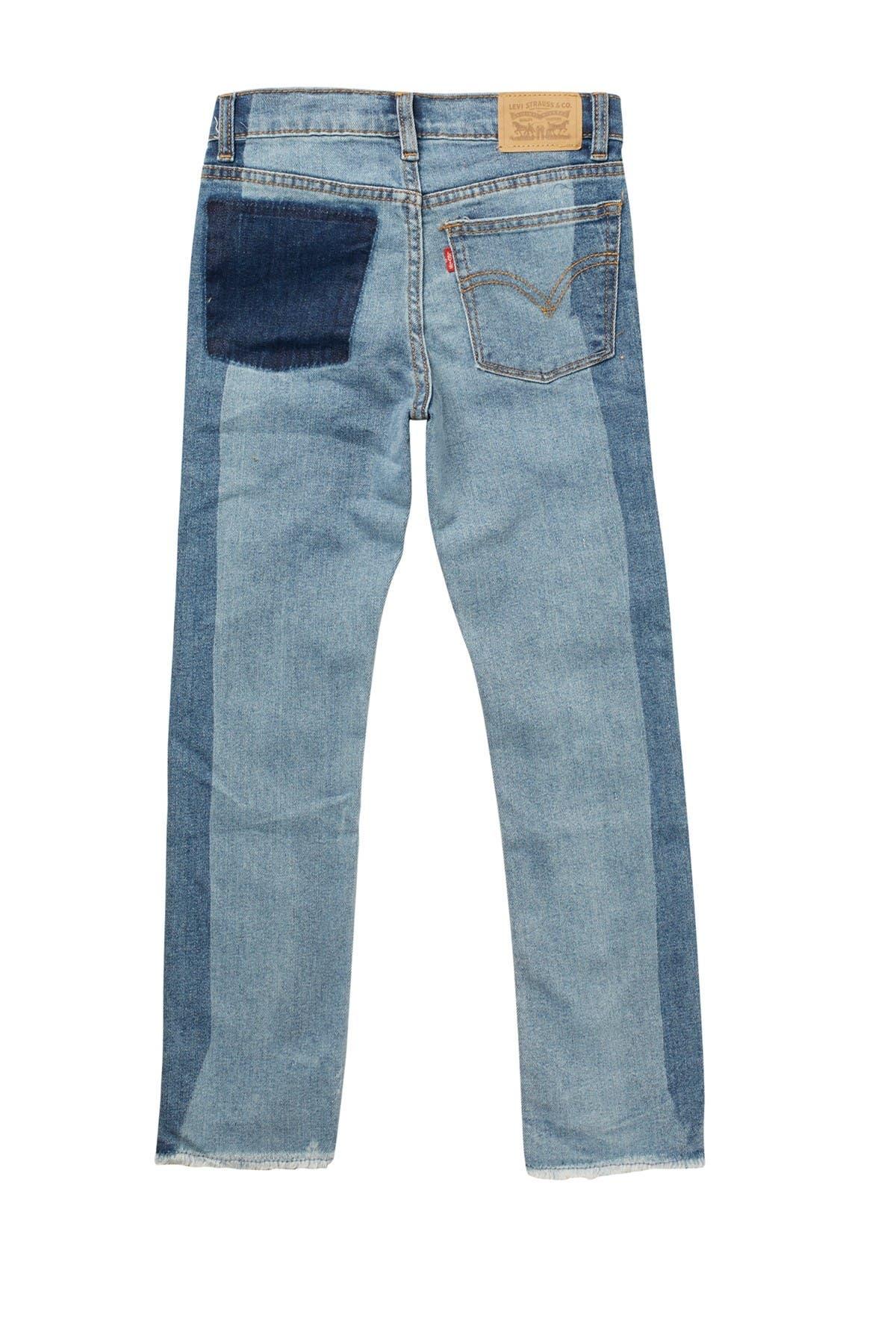 Levi's Frayed Step Hem Girlfriend Jeans