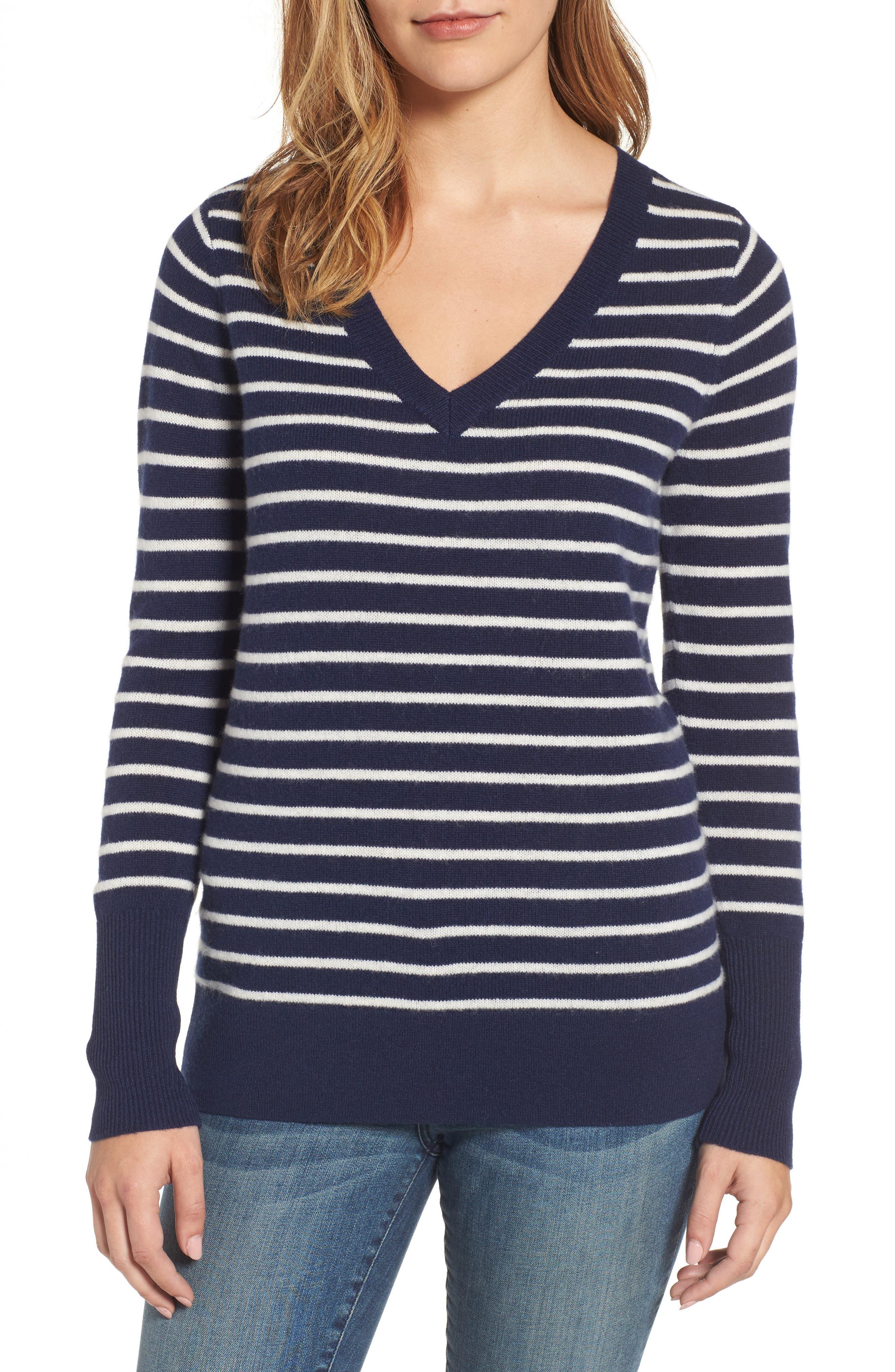 ,                             V-Neck Cashmere Sweater,                             Main thumbnail 36, color,                             410