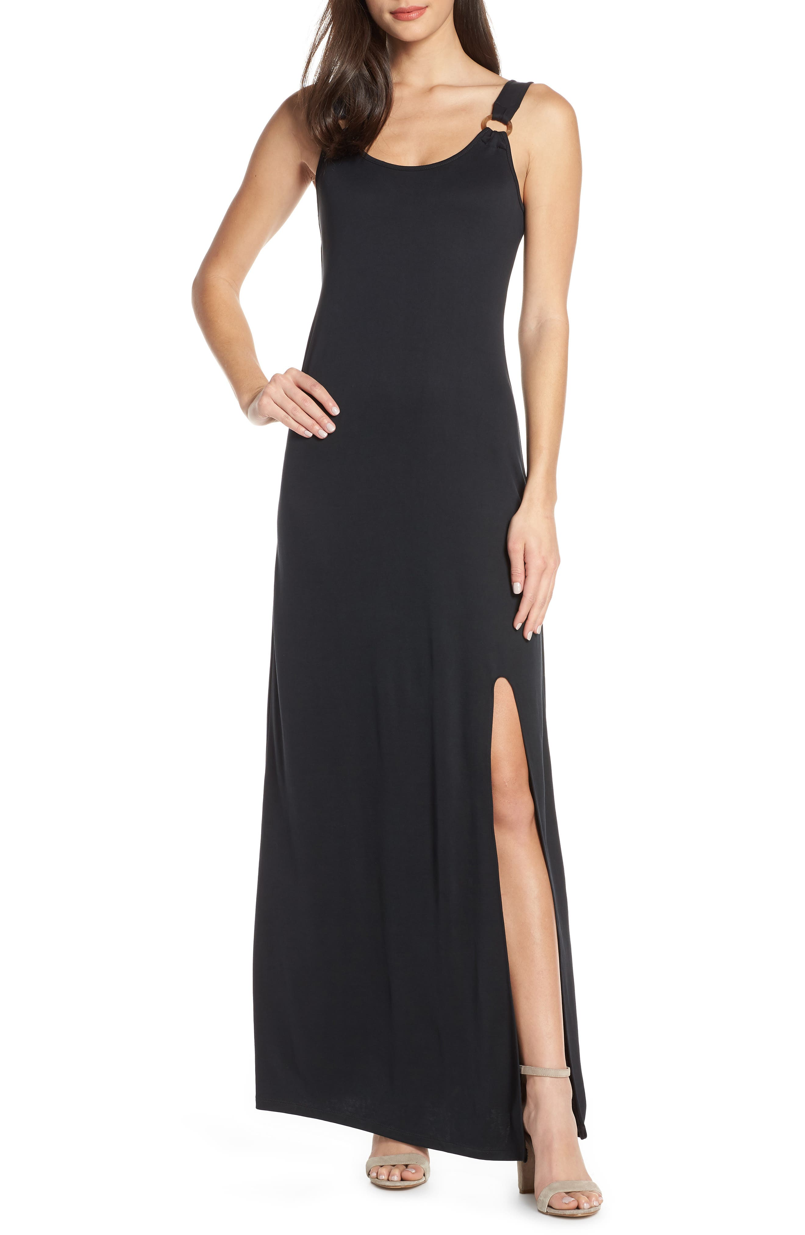 Image of Heartloom Lana Front Slit Jersey Maxi Dress