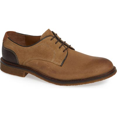 Johnston & Murphy Copeland Plain Toe Derby- Brown