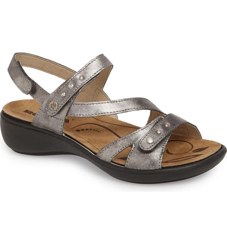 ROMIKA<SUP>®</SUP> Ibiza 70 Sandal, Main, color, ANTHRACITE LEATHER