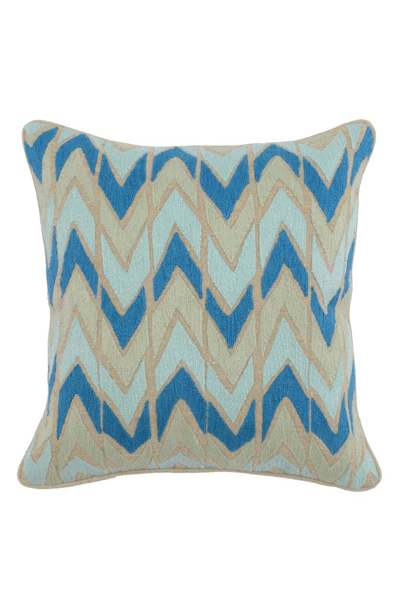 VILLA HOME COLLECTION Hayes Accent Pillow, Main, color, SURF/ BLUE