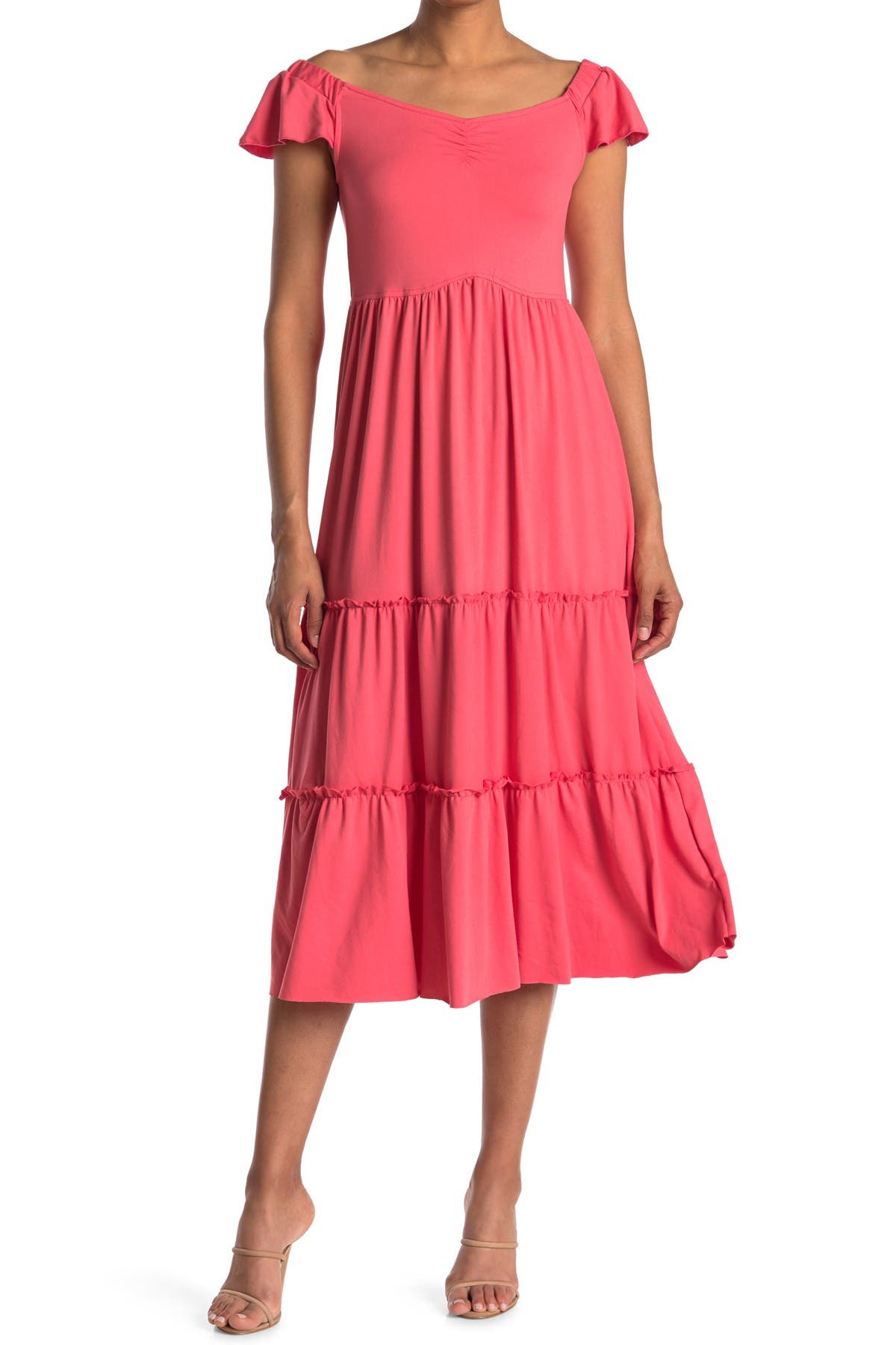 Image of Velvet Torch Maxi Tiered Dress