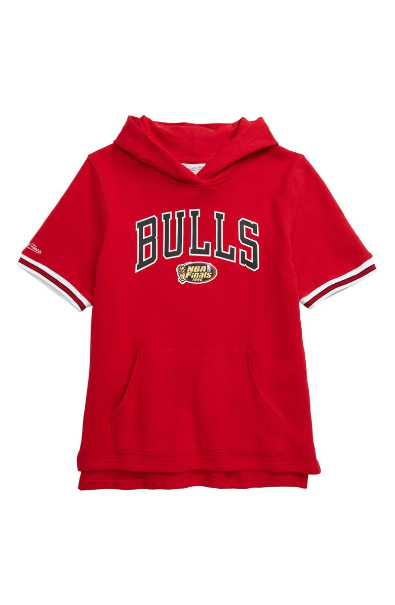 MITCHELL & NESS Chicago Bulls French Terry Hoodie, Main, color, RED