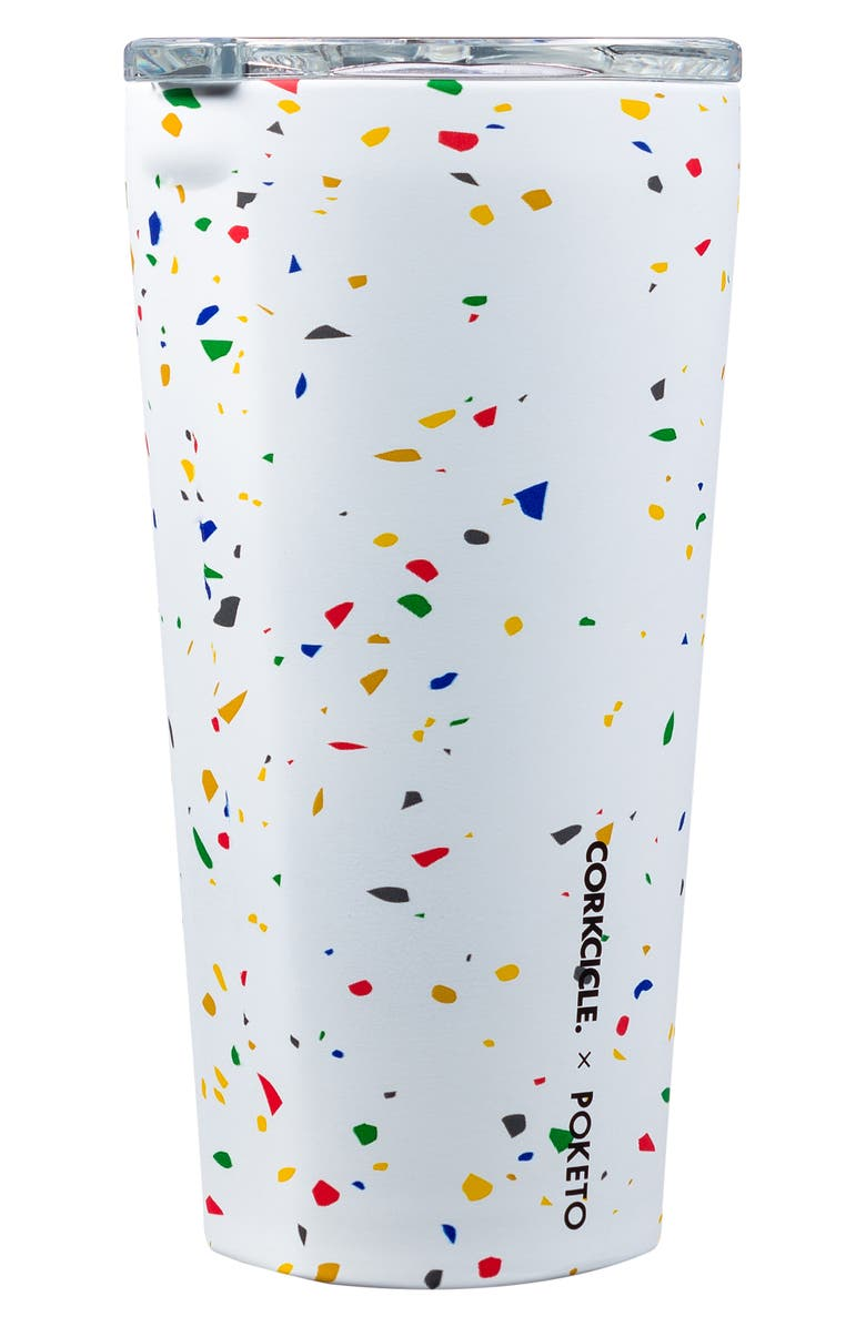 CORKCICLE 16-Ounce Insulated Tumbler, Main, color, WHITE TERRAZZO