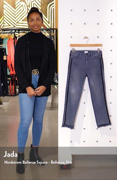Side Stripe Step Hem Ankle Jeans, sales video thumbnail
