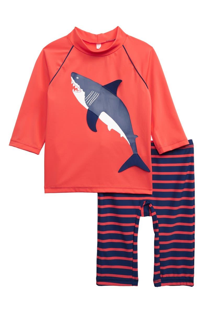 MINI BODEN Surf Suit Two-Piece Rashguard Swimsuit, Main, color, 614