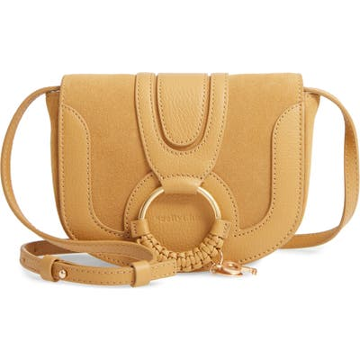 See By Chloe Mini Hana Leather Crossbody Bag - Yellow