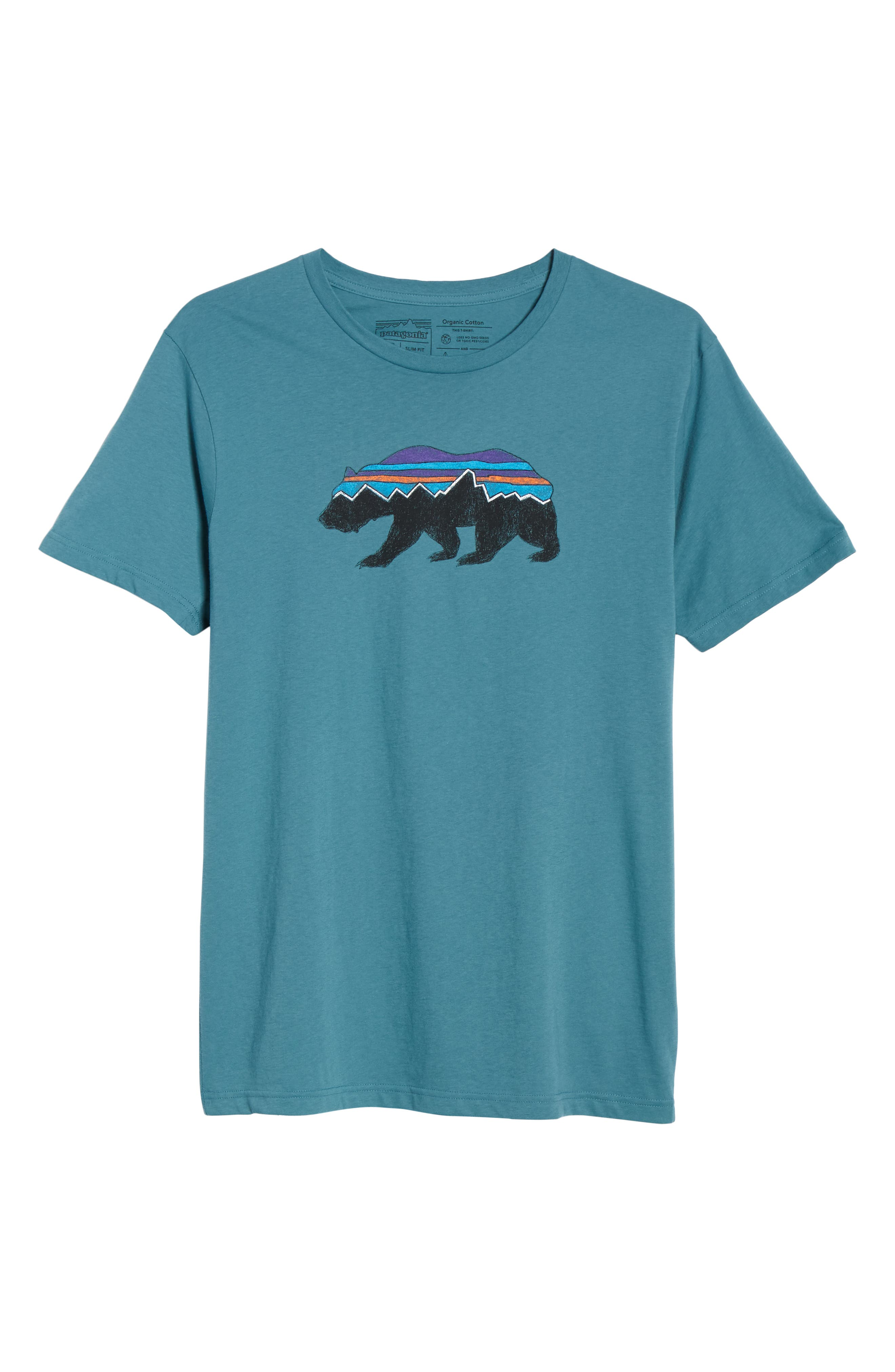 ,                             Fitz Roy Bear Crewneck T-Shirt,                             Alternate thumbnail 6, color,                             TASMANIAN TEAL