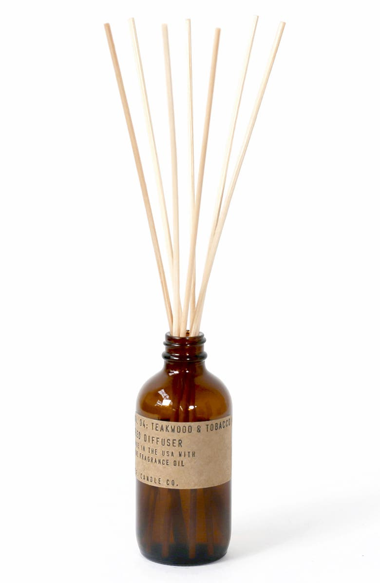 P.F. CANDLE CO. Reed Diffuser, Main, color, TEAKWOOD AND TOBACCO