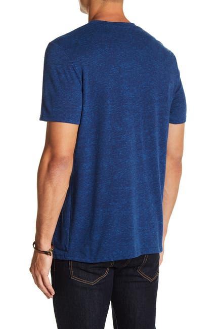 Image of Public Opinion Burnout V-Neck Short Sleeve Tee