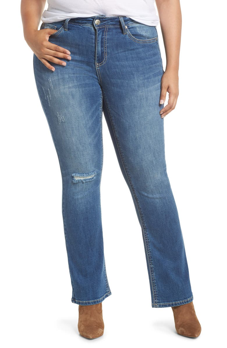 SEVEN7 Rocker Slim Bootcut Jeans, Main, color, LADYBIRD