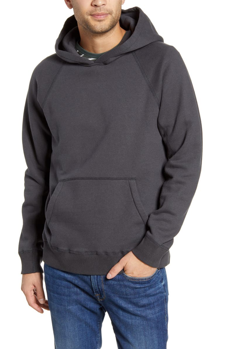 WINGS + HORNS Hooded Sweatshirt, Main, color, CHARCOAL