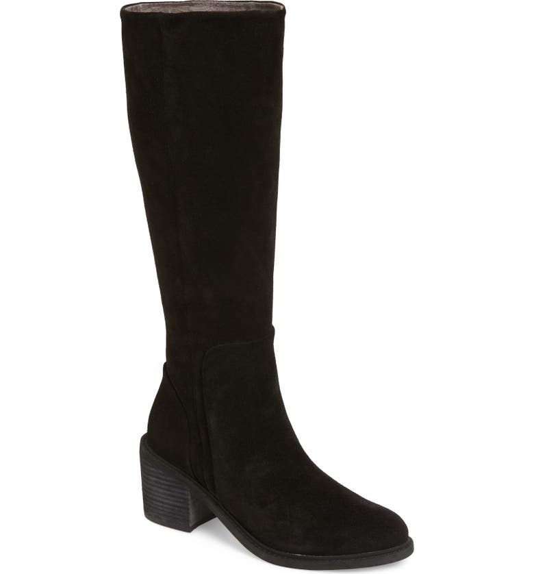 BAND OF GYPSIES Avon Tall Boot, Main, color, BLACK SUEDE