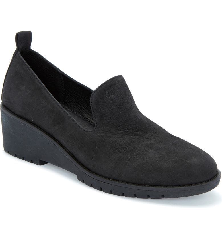 ADAM TUCKER BY ME TOO Adam Tucker Nexi Wedge Loafer, Main, color, BLACK NUBUCK LEATHER