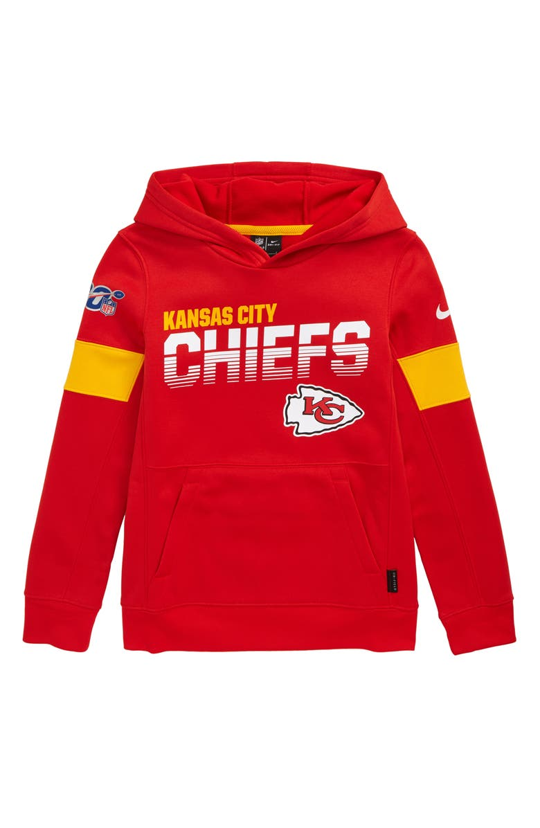 the latest b3982 38d94 Nike NFL Logo Kansas City Chiefs Therma Dri-FIT Hoodie (Big ...