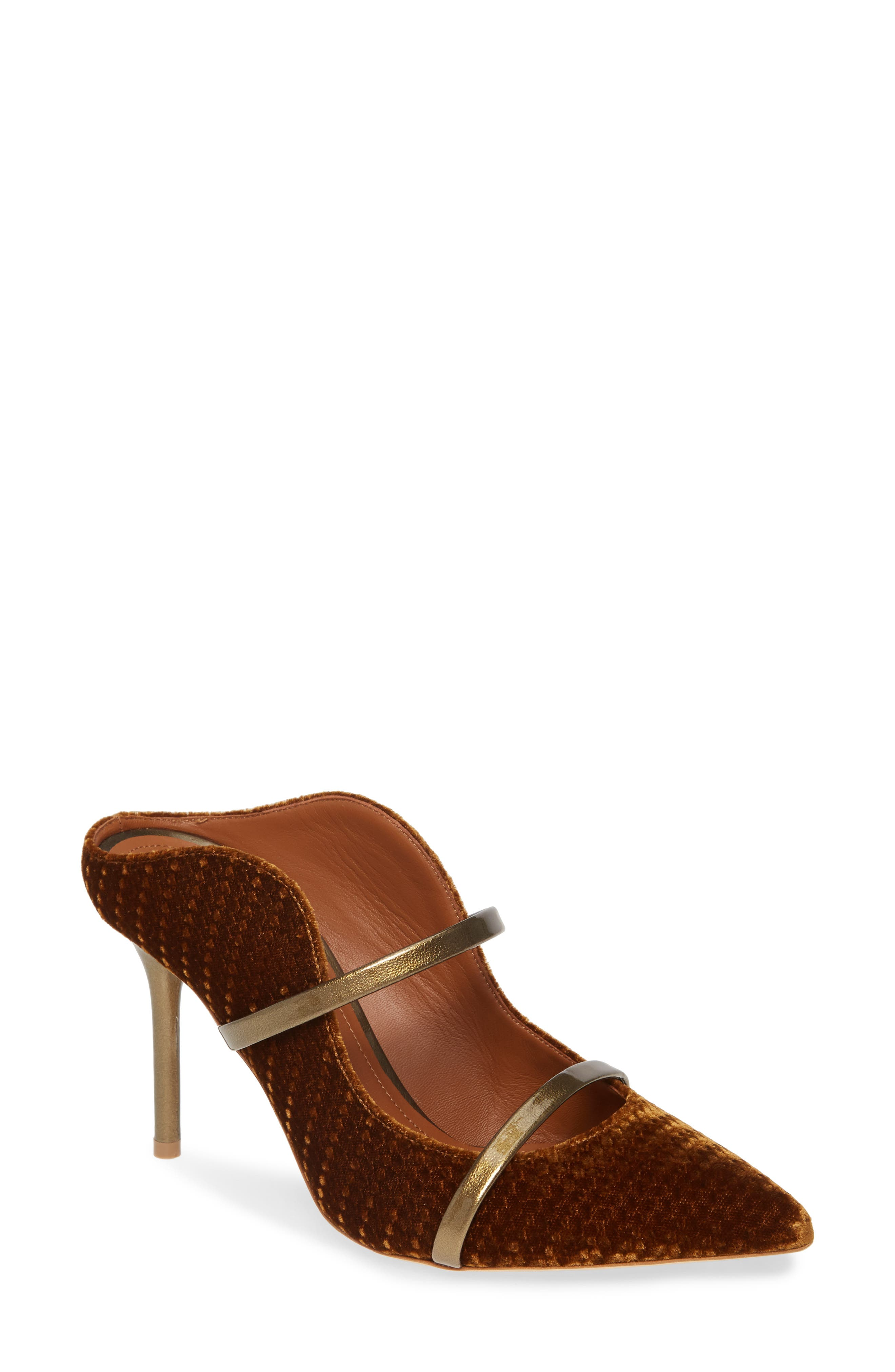 Malone Souliers Maureen Double Band Mule - Brown