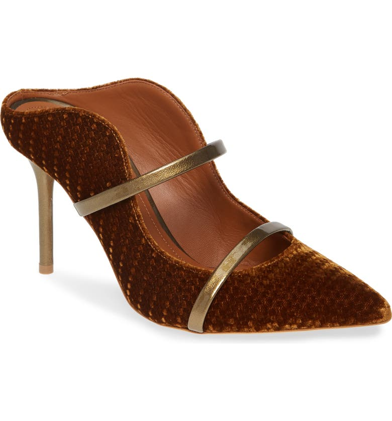 MALONE SOULIERS Maureen Double Band Mule, Main, color, MUSTARD/ GOLD