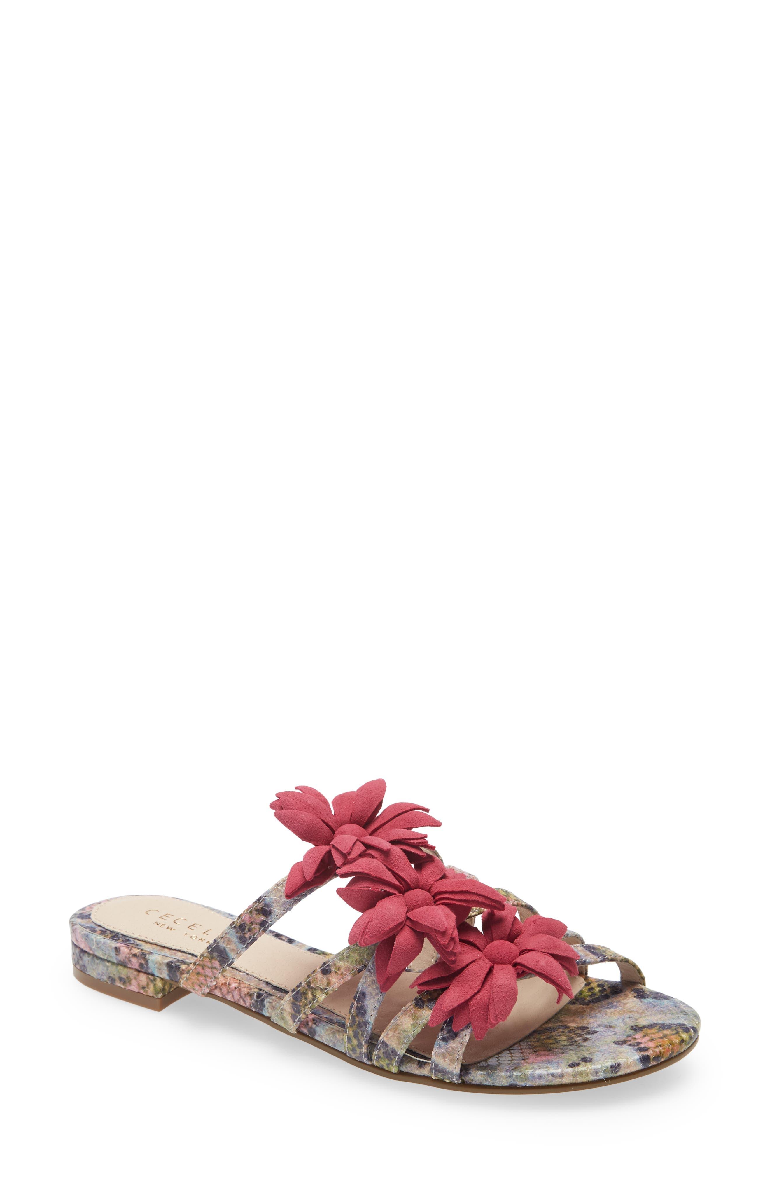 Flower Slide Sandal
