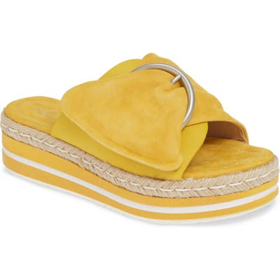 Sheridan Mia Weft Slide Sandal - Yellow